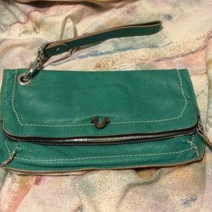 Handbags - True religion foldover clutch